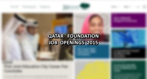 qatar foundation jobs 2015