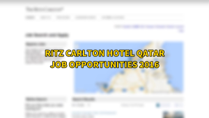 ritz carlton jobs QATAR