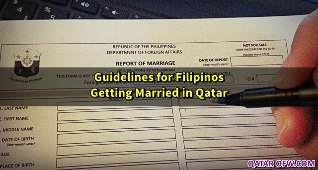 guidelines for filipinos getting married in qatar