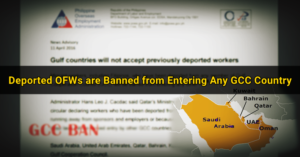 gulf countries OFW deportees