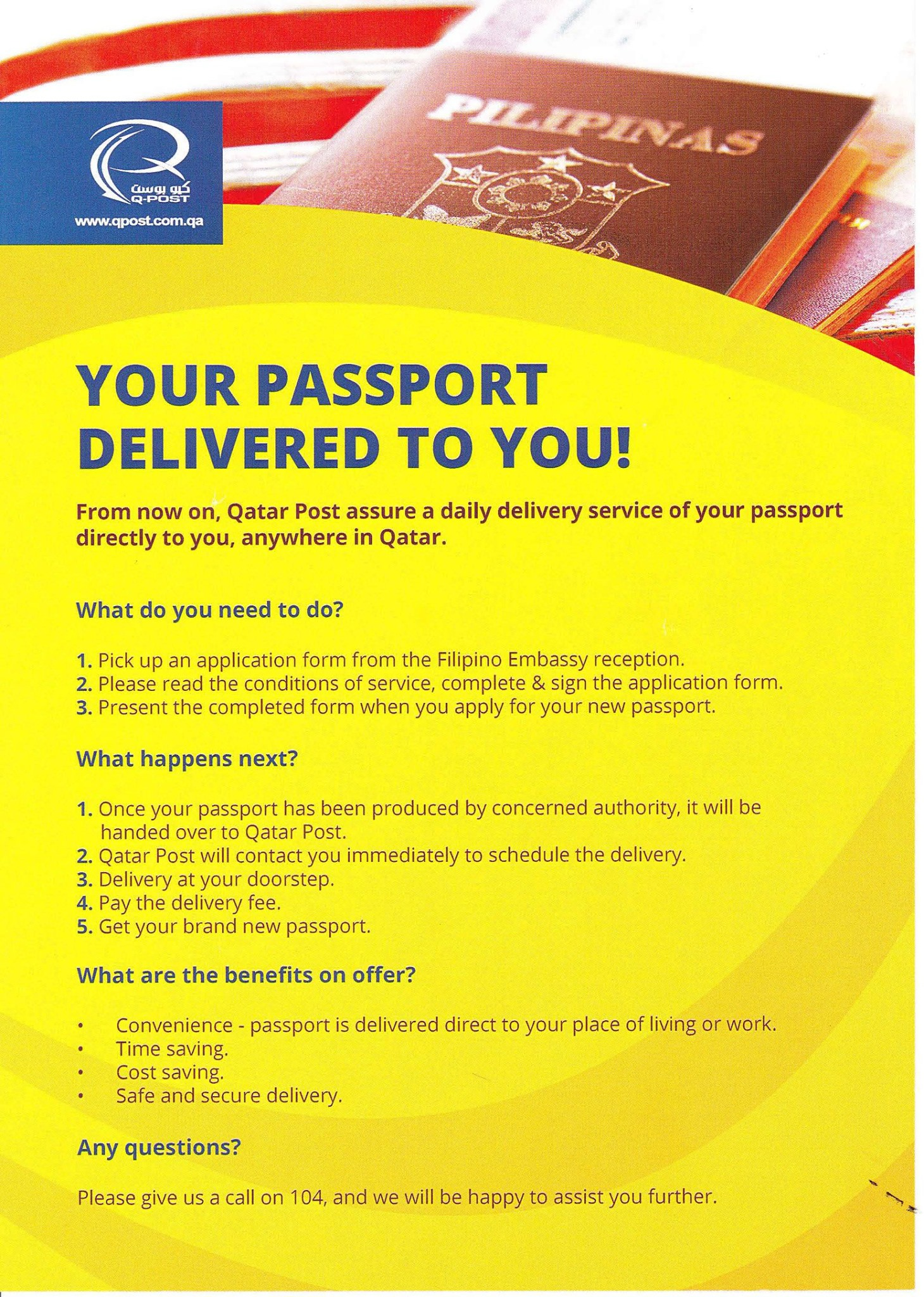 philippine passport delivery qatar