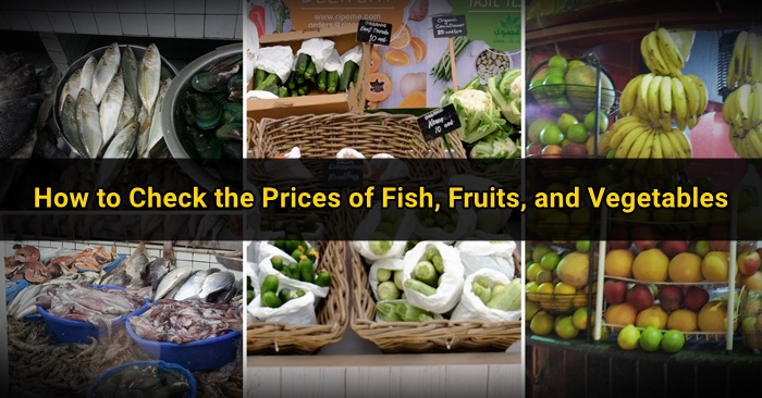 price list fish vegetables fruits