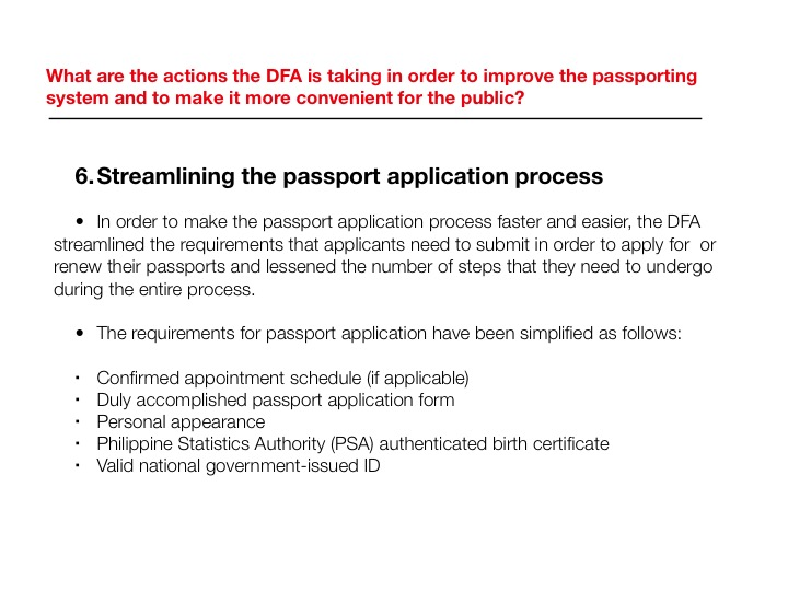 Dfa Assigns Priority Lane For Ofws Extends Passport Validity