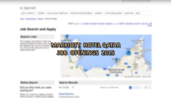 marriott hotel jobs qatar