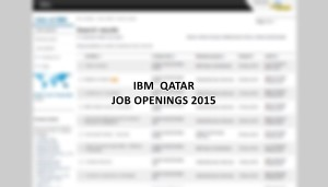IBM Qatar jobs