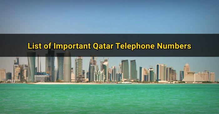 qatar emergency numbers