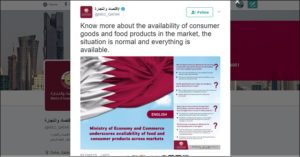 ministry of economy commerce qatar food supply