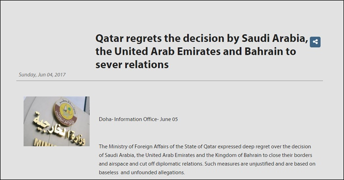 qatar ministry of foreign affairs ban