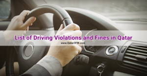 list of driving violations and fines qatar