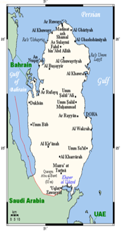 qatar map wikipedia on
