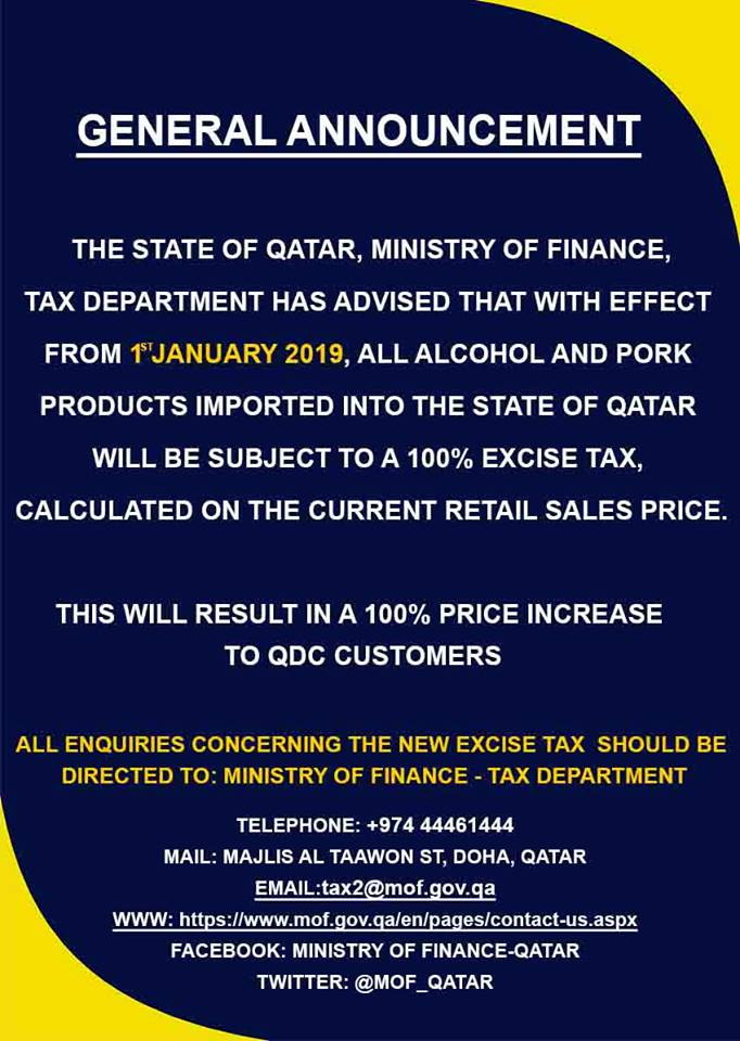 Qatar Imposes 100 Tax on Alcohol 4