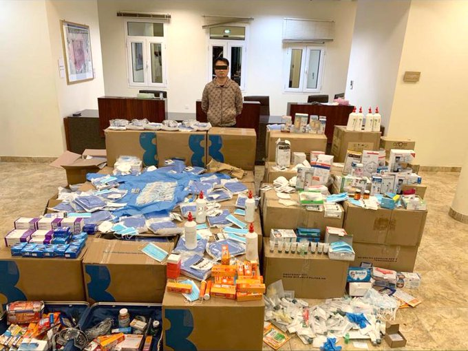 asian man sell medical supplies illegally