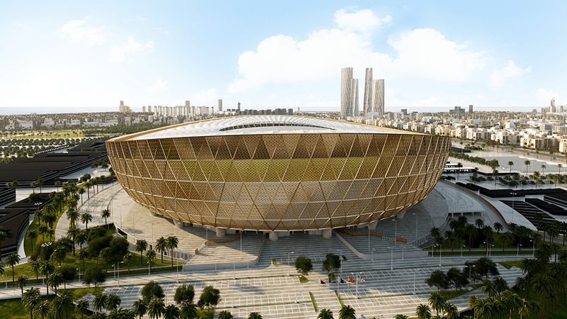 Lusail Stadium for the opening and closing ceremonies